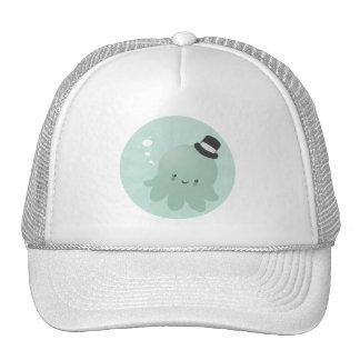 Cute Little Octopus wearing a black Top Hat
