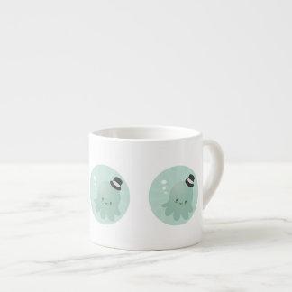 Cute Little Octopus wearing a black Top Hat Espresso Mug