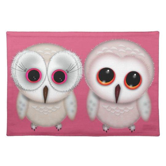 Cute Little Owl Illustration Placemat
