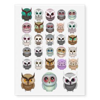 Cute Little Owls Illustrations