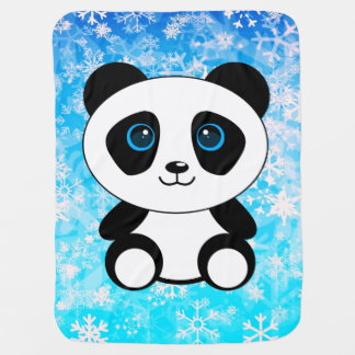 Cute Little Panda Bear Baby Blanket