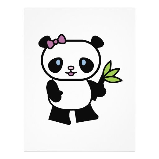 cute little panda bear custom flyer