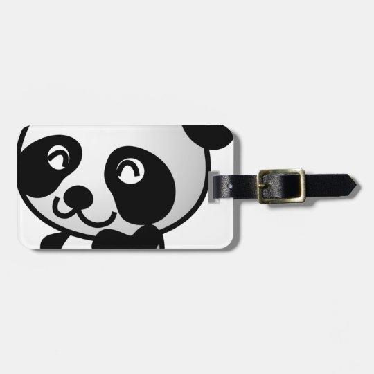 Cute little panda luggage tag