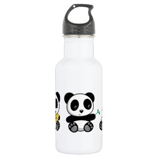 Cute Little Pandas 532 Ml Water Bottle