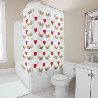 Cute Little Papillon Puppy Dog Shower Curtains Shower Curtain