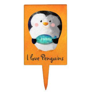 Cute Little Penguin Cake Picks