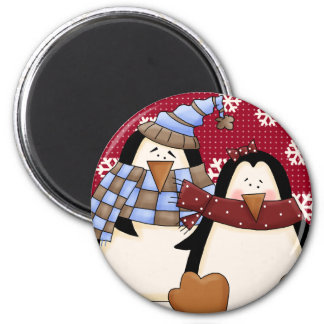 Cute Little Penguin Couple Fridge Magnets