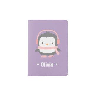 Cute Little Penguin Girls Passport Cover