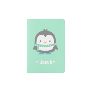 Cute Little Penguin Kids Passport Cover
