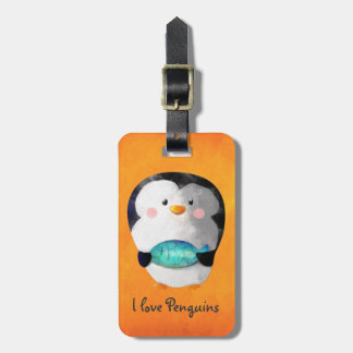 Cute Little Penguin Luggage Tag