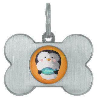 Cute Little Penguin Pet Name Tag