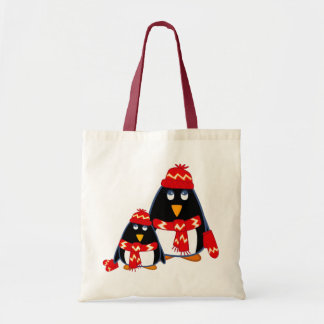 Cute Little Penguins. Christmas Gift Bag