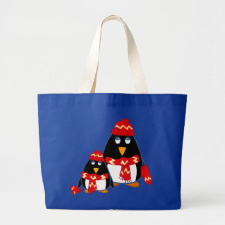 Cute Little Penguins. Christmas Gift Tote Bags