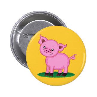 Cute Little Pig Button