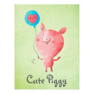 Cute Little Pig Postcard