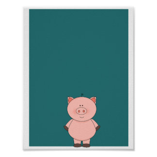 Cute Little Pig poster
