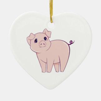 Cute Little Piggy Art Christmas Ornament