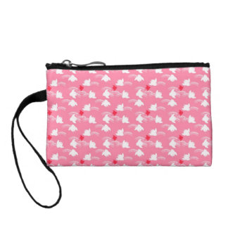 Cute Little Pink and white Chicks Coin Purse