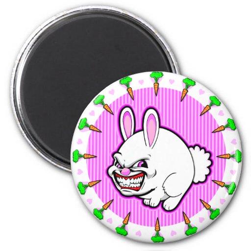 Cute little Pink Apple bunny Magnet