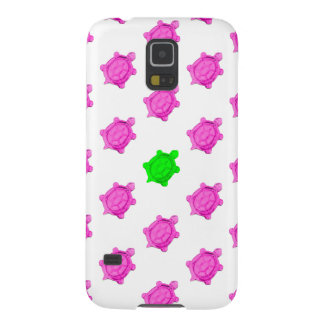 Cute Little Pink/Green Turtle Pattern Galaxy S5 Case