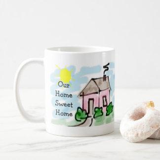 Cute Little Pink House Our Home Sweet Home Coffee Mug