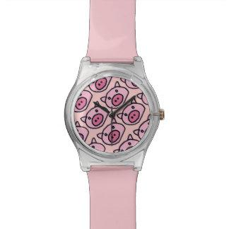 cute little pink pig watch