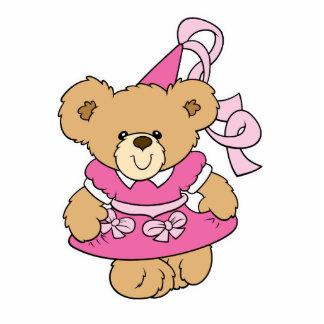 Cute Little Pink Princess Bear Photo Cutout
