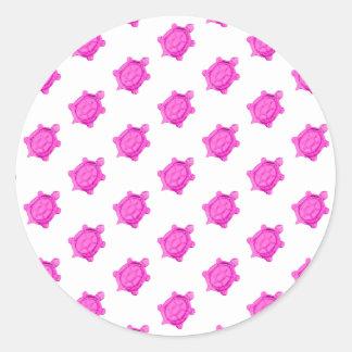 Cute Little Pink Turtle Pattern Sticker