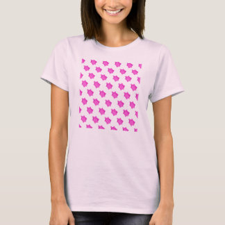 Cute Little Pink Turtle Pattern T-Shirt