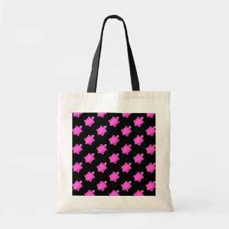 Cute Little Pink Turtle Pattern Tote Bag