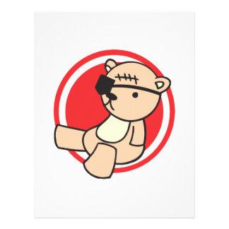 cute little pirate bear flyer design