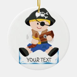 Cute little pirate christmas ornament