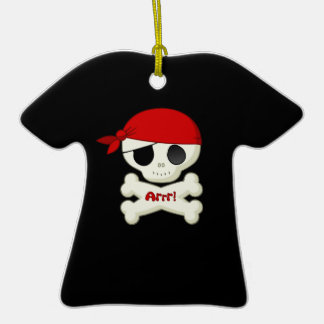 Cute Little Pirate Skull and Crossbones ornament