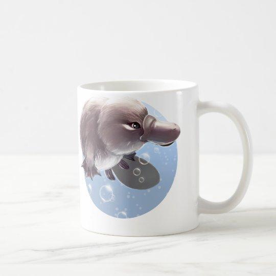 Cute Little Platypus Illustration Mug