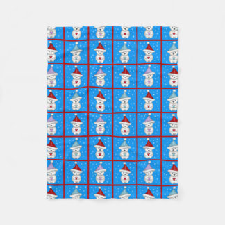 Cute Little Polar Bears Holiday Art Fleece Blanket