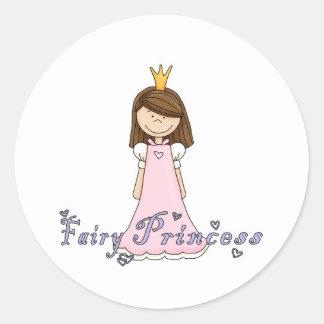 Cute Little Pretty Fairy Princess Round Sticker