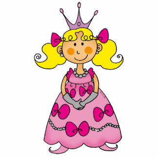 Cute little princess (blond hair) standing photo sculpture