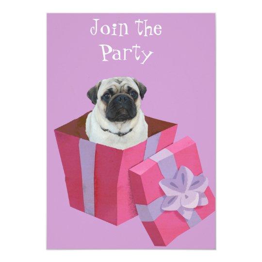 Cute little Pug Present Card
