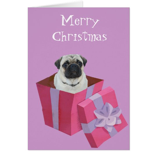 Cute little Pug Present Card