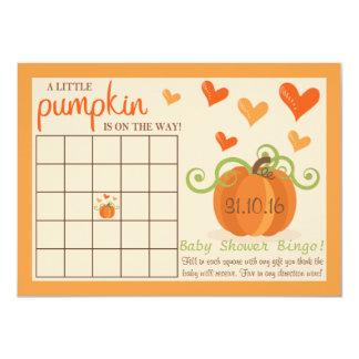 Cute Little Pumpkin Baby Shower Bingo Cards 11 Cm X 16 Cm Invitation Card