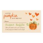 Cute Little Pumpkin Baby Shower Diaper Raffle Pack Of Standard Business Cards