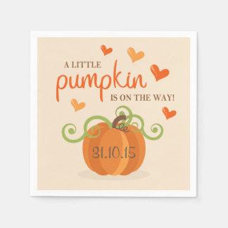 Cute Little Pumpkin Baby Shower Napkins Disposable Napkin