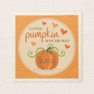 Cute Little Pumpkin Baby Shower Napkins Disposable Serviette