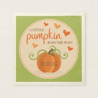 Cute Little Pumpkin Baby Shower Napkins Paper Napkins