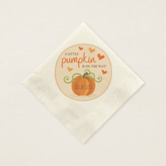 Cute Little Pumpkin Baby Shower Napkins Paper Serviettes