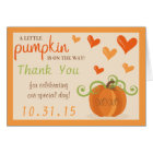 Cute Little Pumpkin Baby Shower Thank You Cards