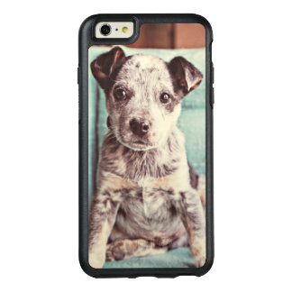 Cute Little Puppy On Teal Chair OtterBox iPhone 6/6s Plus Case