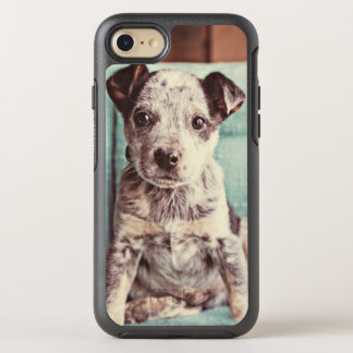 Cute Little Puppy On Teal Chair OtterBox Symmetry iPhone 8/7 Case