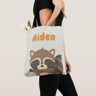 Cute Little Raccoon Woodland Creature Tote Bag