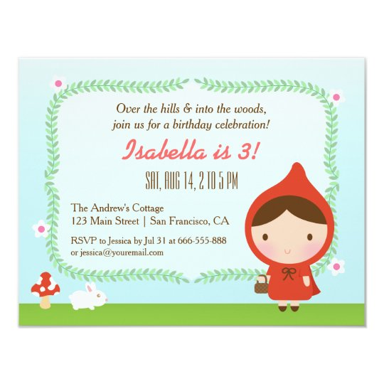 Cute Little Red Riding Hood Girl Birthday Party